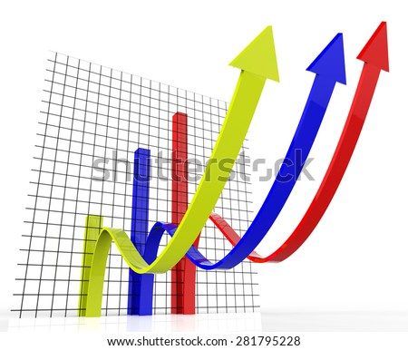 Increasing Graph Meaning Profit Increase And Upward