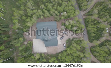 Incredible aerial view of a cabin I took a picture of in Utah!