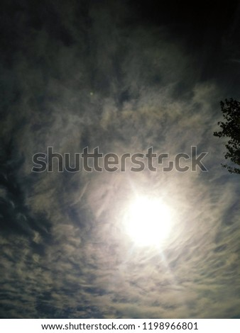 Incredibly beautiful curly wavy clouds. Unusual breathtaking texture of the cloudy sky. Heaven scenic atmospheric photo #1198966801