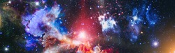 Incredibly beautiful galaxy in outer space. Billions of galaxies in the universe. Abstract space background. Elements of this image furnished by NASA