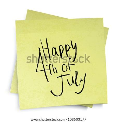 Independence day reminder. Raster version.