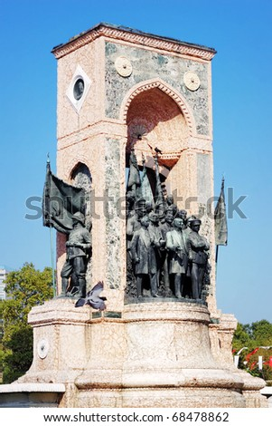 Independence Monument at Taksim Square in Istanbul