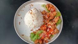 Indesian Cuisine - Rice with Dori sambal matah,