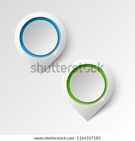 Index location on the map. Pointer position. Marker standing. Indicator destination. Origami infographic colorful pointrs set. Advertising design shape. Speech talking cloud. label pointer tag