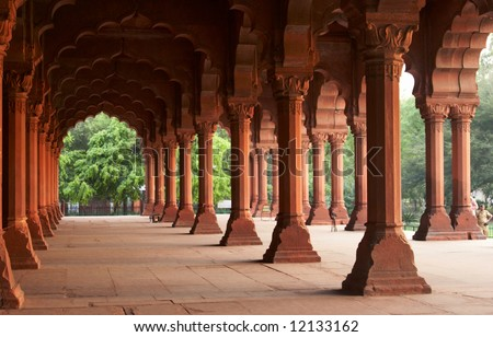 India, Agra. Palace inside of the Red Fort