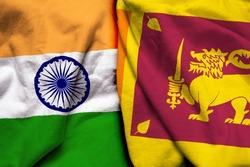 India and Sri Lanka flag together