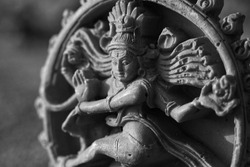 India, 17 April, 2021 : Idol of lord Nataraja, Lord Nataraja, God Shiva, Hindu god idol.