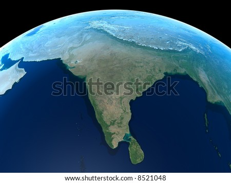 India as seen from Space