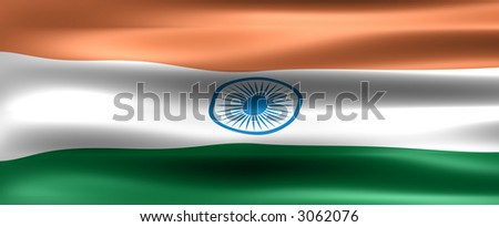 India Background Flag - Symbol of a country - stock photo