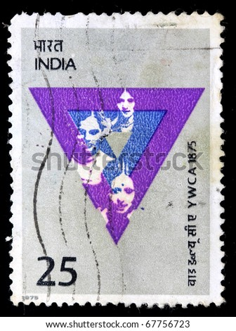 INDIA - CIRCA 1975: A stamp printed in India (present time India) shows YWCA, circa 1975