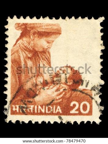 india   circa 1984  a stamp...