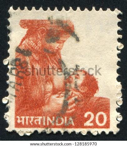 india   circa 1955  stamp...