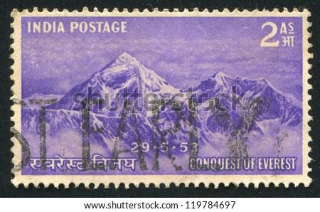 india   circa 1953  stamp...