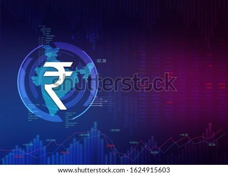 India Finance Background, India Economy background, union budget, abstract dark background illustration with India map and rupee symbol, Indian Rupee background, Rupee, rupee currency stock photo