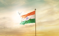 INDIA FLAG FLYING