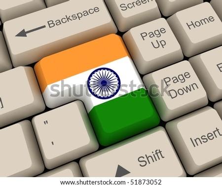 india flag key