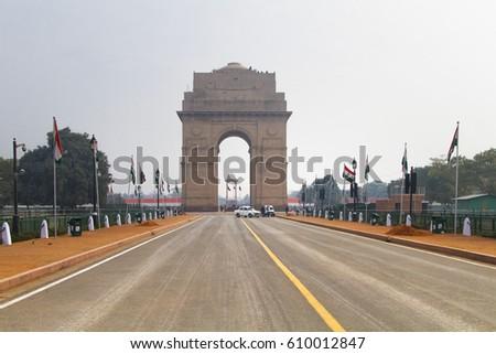 India Gate in New Delhi, India #610012847