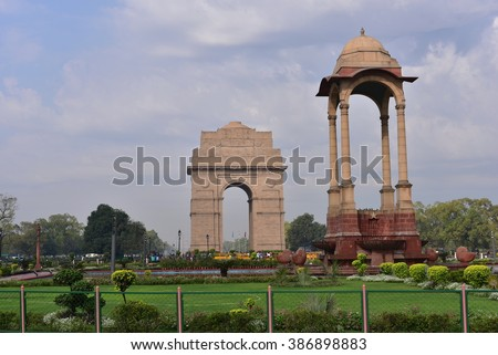 india gate  new delhi  india....