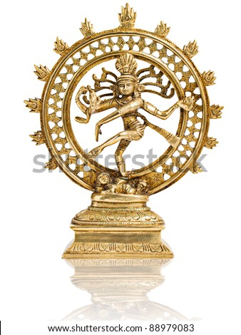 India god Shiva Nataraja isolated