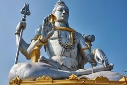 India. Karnataka. Murdeshwar. Shiva on the Kanduka Hill