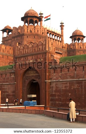 India, New Delhi. Gate of the Red Fort