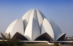 India. New Delhi, Lotus temple.