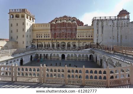 ( هوا محل ) قصر بالهند رائع stock-photo-india-ra