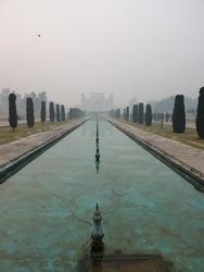 India's morning. very foggy but still beuatiful