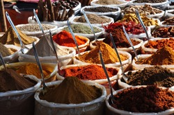 India Spices at the local market at GOA.