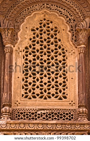 India window Carvings - stock photo