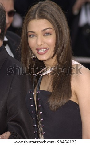 Indian actress & Cannes jury member AISHWARYA RAI at the screening of The Matrix Reloaded at the Cannes Film Festival. 15MAY2003