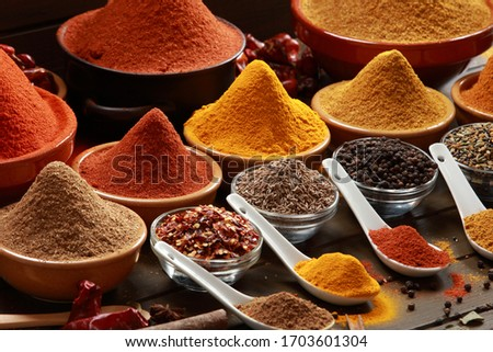 Indian and Asian Herbs and Spices making delicious Gourmet Meals. Spicy and hot. Made with Canon EOS 1DS mkIII