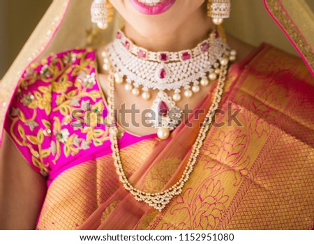 Indian Bridal Showing wedding Necklace #1152951080