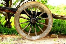 Indian bullock cart in natural background.