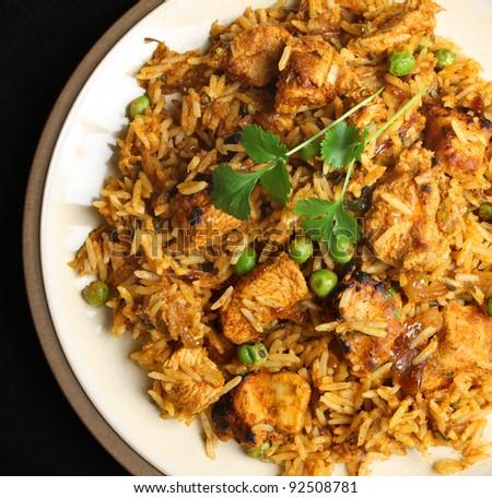 Indian chicken tikka biriyani curry