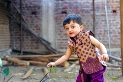 Indian child on traditional Wear