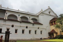 Indian chruch Facades on cloudy day