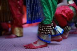 indian classical dance form feet bharatnatyam katthaka