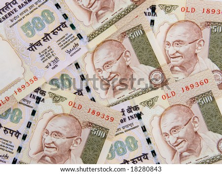 Indian currency banknotes - close up