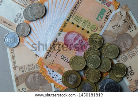 Indian Currency coins and Indian 500 note 200 note 2000 note #1450181819