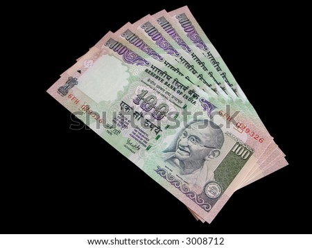 Indian Currency - One Hundred Rupee Notes / Bills