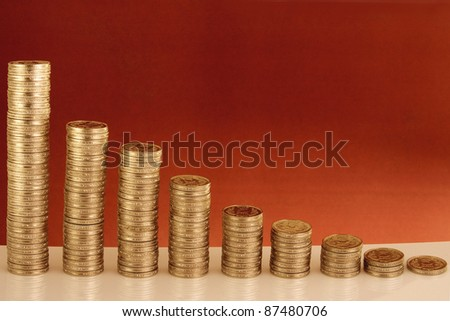 Indian currency-Stack of rupee coins