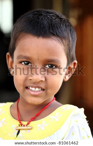 Indian cute little girl posing to the camera/ Indian little girl / Indian little girl