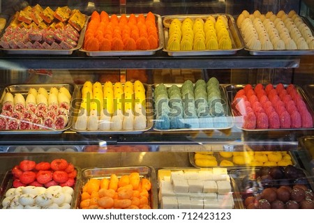 Indian desserts shop at  little indian town in Bangkok Thailand