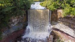 indian falls waterfall in owen sound ontario canada