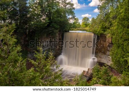 indian falls waterfall in owen sound ontario canada Stock photo ©