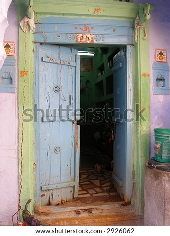 Indian family door
