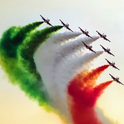 Indian fighter airplane airshow flying