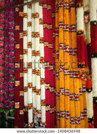 Indian Flower Garland, Marigold Garland #1408436948