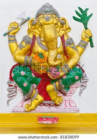Indian God Ganesha or Hindu God Named Siddhi Ganapati at Wat Saman temple, Thailand